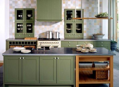 BAX Landelijke keuken groen