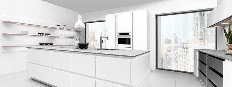 Greeploze Moderne Keuken Snow Matte Lak